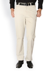 Live In Jeans Men Cream-Coloured Chino Trousers