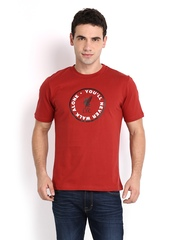 Liverpool Football Club UK Men Brick Red Printed T-shirt