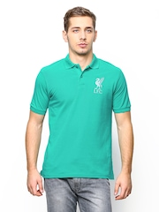 Liverpool Football Club UK Men Green Polo T-shirt
