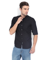 Locomotive Men Black Slim Fit Casual Shirt