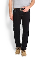 Locomotive Men Black Slim Straight Fit Jeans