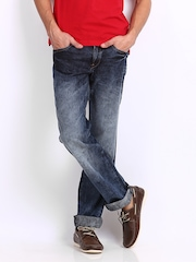 Locomotive Men Blue Slim Straight Fit Jeans