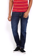 Locomotive Men Blue Straight Slim Fit Jeans