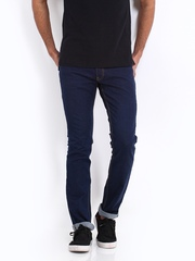 Locomotive Men Dark Blue Super Slim Fit Jeans