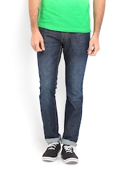 Locomotive Men Dark Blue Slim Straight Fit jeans