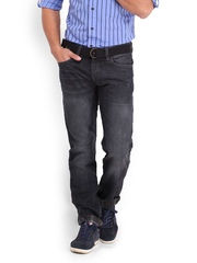 Locomotive Men Dark Grey Slim Straight Fit Jeans