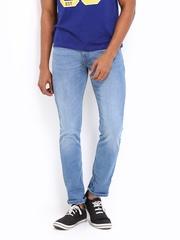 Locomotive Men Light Blue Super Slim Fit Jeans