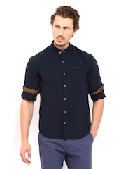 Locomotive Men Navy Casual Shirt