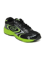 Lotto Men Black & Green Zurich Sports Shoes