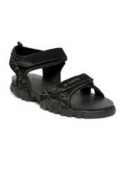 Men Black Sports Sandals Lotto