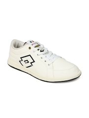 Lotto Men Cream Coloured Logo Plus Casual Shoes