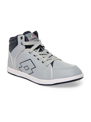 Lotto Men Grey Logo Plus Hi Casual Shoes