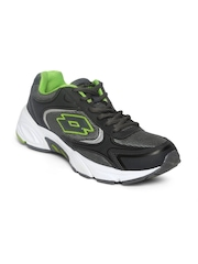 Lotto Men Grey & Olive Green Venice Nuo Running Shoes