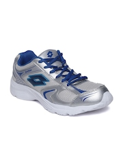 Lotto Men Silver-Toned Trojan Running Shoes