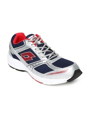 Lotto Men Navy & Silver-Toned Antares IV Running Shoes