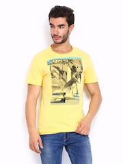 Lotto Men Yellow Printed Darko T-shirt