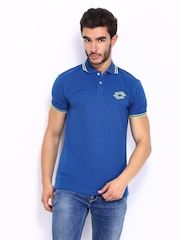 Lotto Men Blue Polo T-shirt