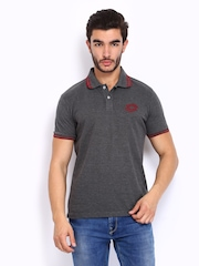 Lotto Men Grey Polo T-shirt