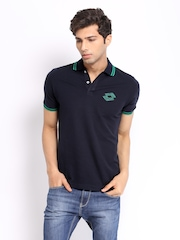 Lotto Men Navy Reed Polo T-shirt
