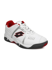 Lotto Men White & Red T-Tour Casual Shoes