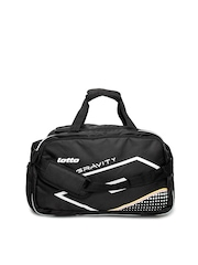 Lotto Unisex Black Fusion Duffle Bag