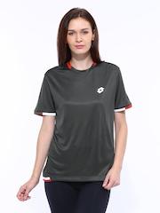 Lotto Women Grey Coloured T-shirt