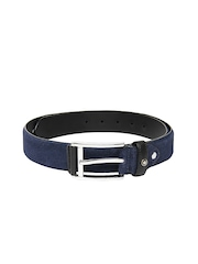 Louis Philippe Men Navy Leather Belt