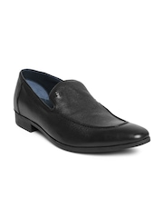 Louis Philippe Men Black Leather Semiformal Shoes