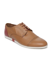 Louis Philippe Men Brown Leather Casual Shoes
