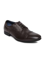 Louis Philippe Men Brown Leather Semiformal Shoes