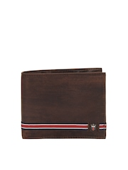 Louis Philippe Men Brown Leather Wallet