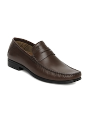 Louis Philippe Men Brown Mainline Leather Semi-Formal Shoes