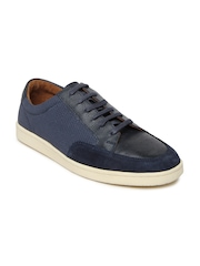 Louis Philippe Men Blue Leather Casual Shoes