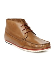 Louis Philippe Men Tan Brown Leather Casual Shoes