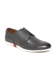 Louis Philippe Men Grey Leather Casual Shoes
