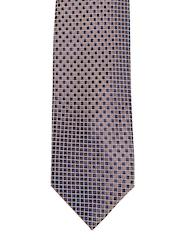 Louis Philippe Blue & Brown Silk Tie