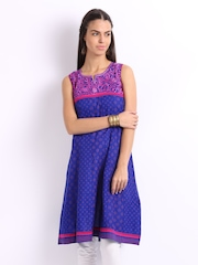 Lovely Lady Blue Printed Kurta