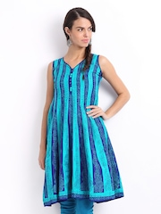 Lovely Lady Blue Printed Anarkali Kurta