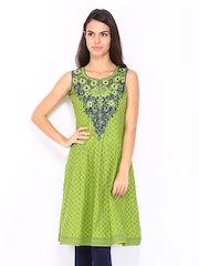 Lovely Lady Green & Blue Kurta
