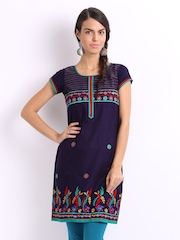 Lovely Lady Navy Kurta