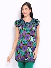 Lovely Lady Purple & Green Printed Kurti