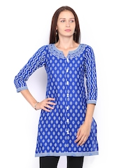 Lovely Lady Women Blue Printed Kurta