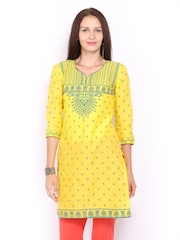Lovely Lady Women Yellow & Green Printed Kurta