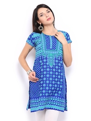 Lovely Lady Women Blue & Green Printed Kurta
