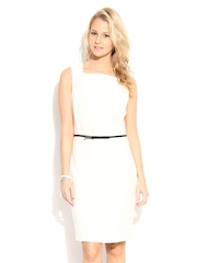 MANGO Off-White Sheath Dress