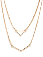 MANGO Touch Set of 2 Gold-Toned Necklaces