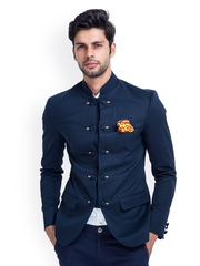 MR BUTTON Men Navy Blazer