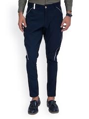 MR BUTTON Men Navy Jodhpuri Pants
