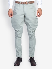 MR BUTTON Men Steel Grey Jodhpuri Pants