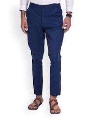 MR BUTTON Men Blue Jodhpuri Pants